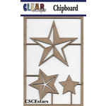 Clear Scraps - Chipboard Embellishments - Stars