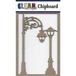 Clear Scraps - Chipboard Embellishments - Street Lights
