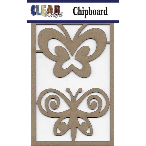 Clear Scraps - Chipboard Embellishments - Swirl Butterflies