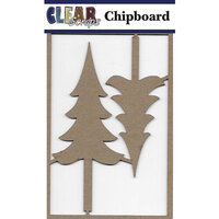 Clear Scraps - Chipboard Embellishments - Tall Trees