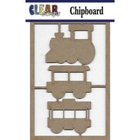 Clear Scraps - Chipboard Embellishments - Trains