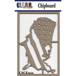 Clear Scraps - Chipboard Embellishments - USA