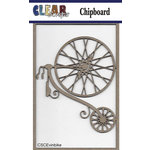 Clear Scraps - Chipboard Embellishments - Vintage Bike