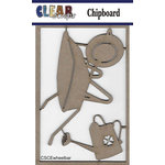 Clear Scraps - Chipboard Embellishments - Wheelbarrow