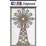 Clear Scraps - Chipboard Embellishments - Windmill