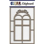 Clear Scraps - Chipboard Embellishments - Window with Fancy Top