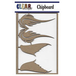 Clear Scraps - Chipboard Embellishments - Wings