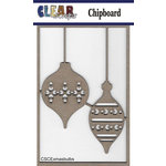 Clear Scraps - Christmas - Chipboard Embellishments - X-mas Bulbs