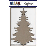 Clear Scraps - Christmas - Chipboard Embellishments - X-mas Tree
