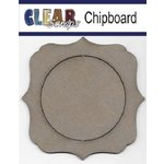 Clear Scraps - Chipboard Frame - Circle Deco