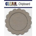 Clear Scraps - Chipboard Frame - Circle Scallop Frame