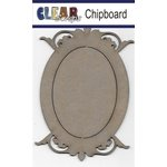 Clear Scraps - Chipboard Frame - Oval Deco Top