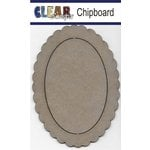 Clear Scraps - Chipboard Frame - Oval Scallop
