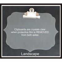 Clear Scraps - Acrylic Clipboard - Deco Landscape - Large