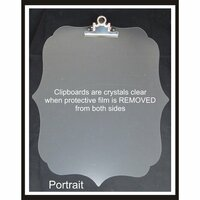 Clear Scraps - Acrylic Clipboard - Deco Portrait - Large