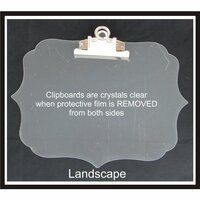 Clear Scraps - Acrylic Clipboard - Deco Landscape - Small