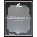 Clear Scraps - Acrylic Clipboard - Deco Portrait - Small