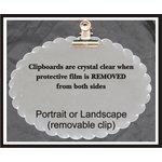 Clear Scraps - Acrylic Clipboard - Mini - Scallop Oval