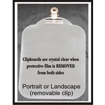 Clear Scraps - Acrylic Clipboard - Mini - Vintage