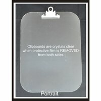 Clear Scraps - Acrylic Clipboard - Regular Portrait - Large