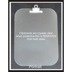Clear Scraps - Acrylic Clipboard - Regular Portrait - Small