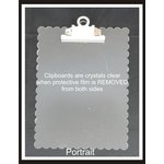 Clear Scraps - Acrylic Clipboard - Scalloped Portrait - Large
