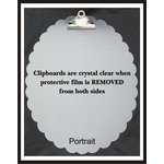 Clear Scraps - Acrylic Clipboard - Oval Scalloped - Portrait - Large