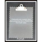 Clear Scraps - Acrylic Clipboard - Scalloped Portrait - Small