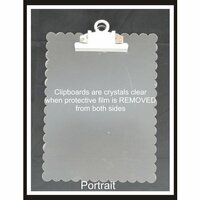 Clear Scraps - Acrylic Clipboard - Scalloped Portrait - Small