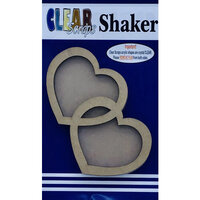 Clear Scraps - Shakers - Double Hearts