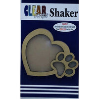 Clear Scraps - Shakers - Heart with Paw