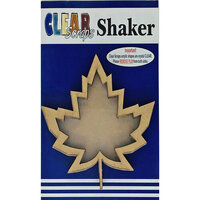 Clear Scraps - Shakers - Maple Leaf