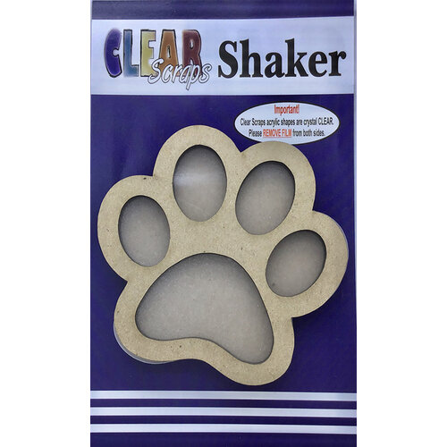Clear Scraps - Shakers - Paw