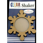 Clear Scraps - Christmas - Shakers - Snowflake