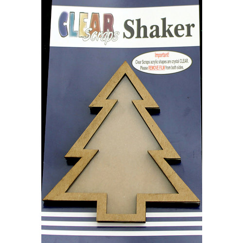 Clear Scraps - Christmas - Shakers - Xmas Tree