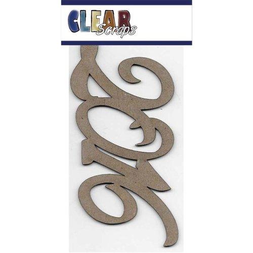Clear Scraps - Chipboard Embellishments - Word - Script - 2016