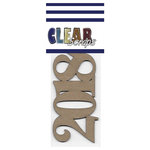 Clear Scraps - Chipboard Embellishments - Word - Script - 2018