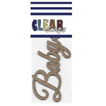 Clear Scraps - Chipboard Embellishments - Word - Script - Baby