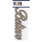 Clear Scraps - Chipboard Embellishments - Word - Script - Believe