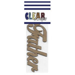 Clear Scraps - Chipboard Embellishments - Word - Script - Father