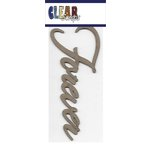 Clear Scraps - Chipboard Embellishments - Word - Script - Forever