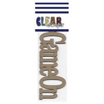 Clear Scraps - Chipboard Embellishments - Word - Script - Game On