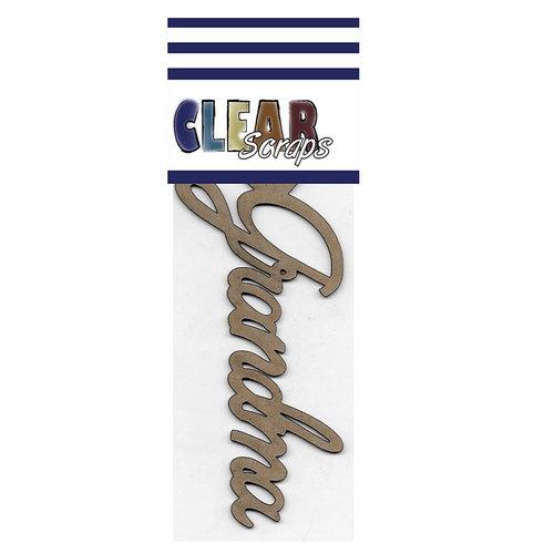Clear Scraps - Chipboard Embellishments - Word - Script - Grandma