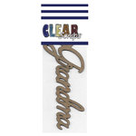 Clear Scraps - Chipboard Embellishments - Word - Script - Grandma