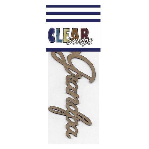 Clear Scraps - Chipboard Embellishments - Word - Script - Grandpa