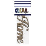 Clear Scraps - Chipboard Embellishments - Word - Script - Home