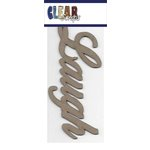 Clear Scraps - Chipboard Embellishments - Word - Script - Laugh