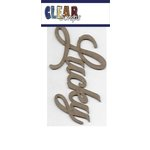 Clear Scraps - Chipboard Embellishments - Word - Script - Lucky