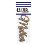 Clear Scraps - Chipboard Embellishments - Word - Script - Mother