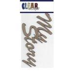Clear Scraps - Chipboard Embellishments - Word - Script - My Story